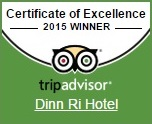 Cert of Excellence Dinn Ri Hotel