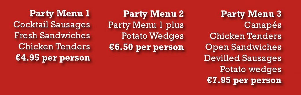 Parties buffets website